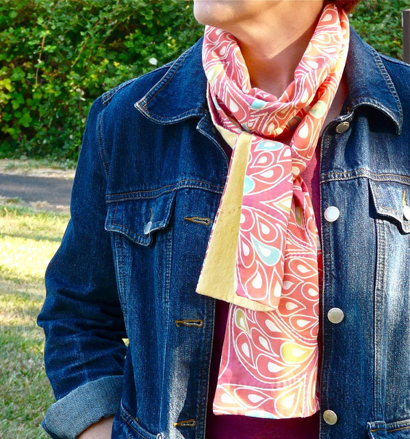Fall Scarf Tutorial for Spoonflower